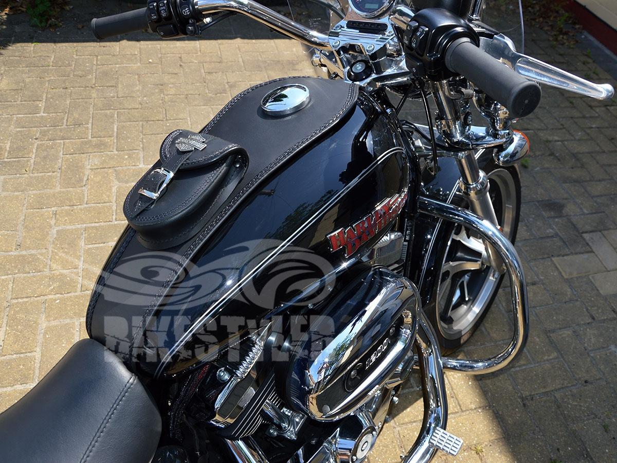 Harley Davidson Iron 833 >> B) HARLEY DAVIDSON SPORTSTER LEATHER BRAIDED TANK Pad ...