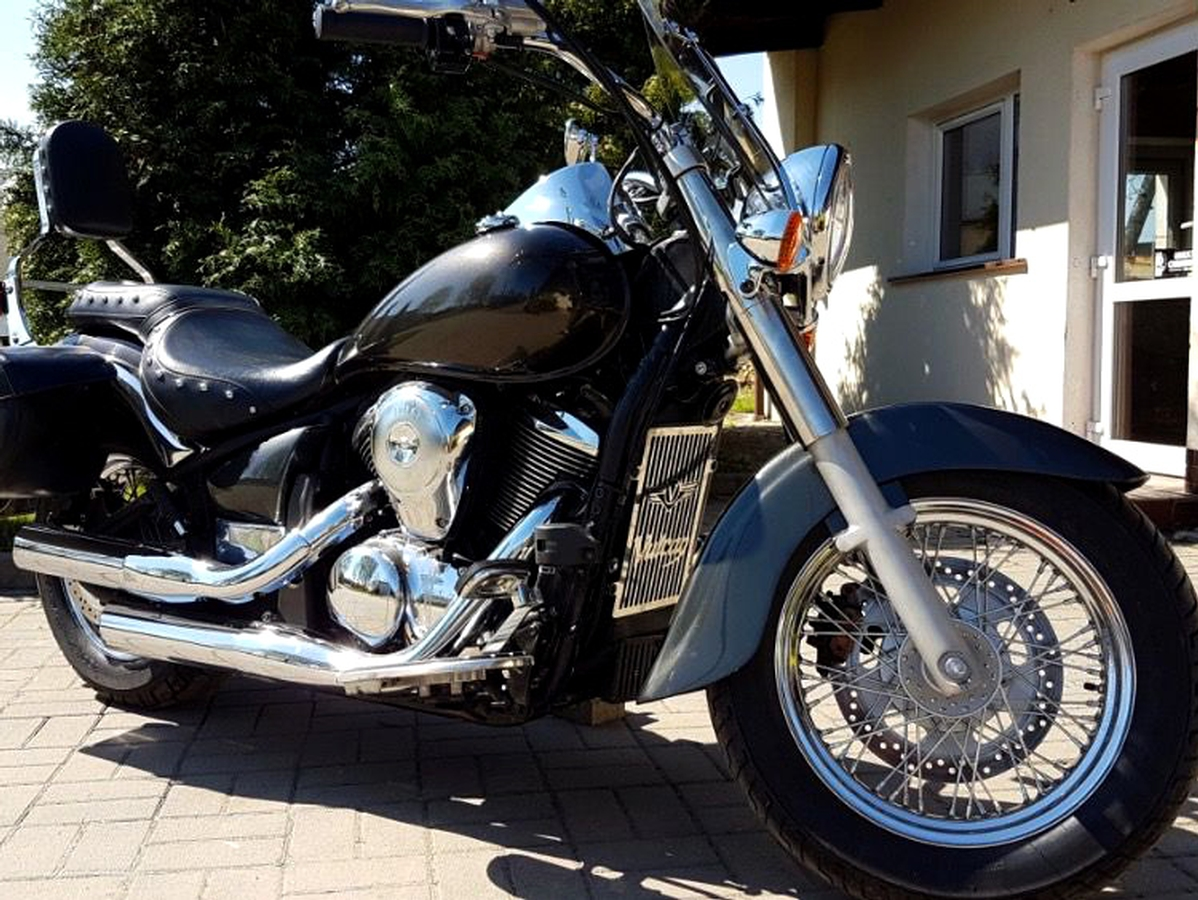 vn900 kawasaki vulcan stainless radiator grill guard cover. Black Bedroom Furniture Sets. Home Design Ideas